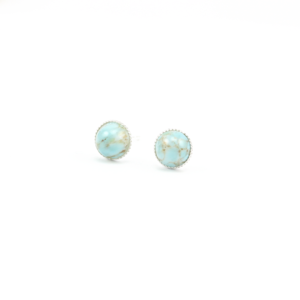 Image of Tiny Pale Turquoise Stone Earrings