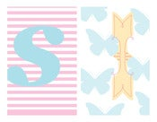 Image of For Sian, a Colourful Personalised Paper Bunting Set for a bedroom or nursery