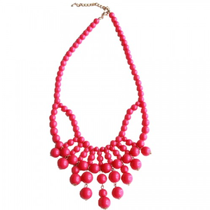 Image of Hot Pink Bead Bauble Necklace