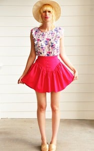 Image of Fucshia Mini Skirt