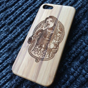 Image of Toke - Gangsta - Wooden iPhone case