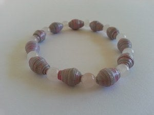 Image of Love and Peace - Pink and Grey AYA Bracelet