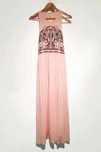 Image of embroidery art nouveau maxi dress