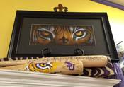 Image of LSU Tiger Eyes Fleur de Lis Print