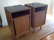 Image of Vintage John & Sylvia Reid 'C' Range bedside cabinets in oak for Stag furniture c1950/60s