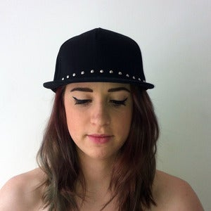 Image of Black Studded Snap Back