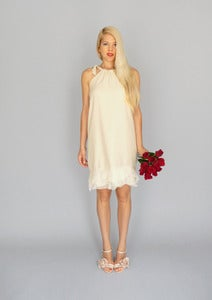 Image of Ludivine: A-line halter dress with ruffled hem