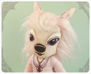 Image of SOLD~ Lil Brutes - Deer Girl by the Filigree ~ Rose