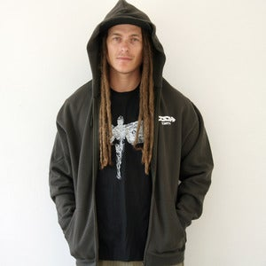 Image of REBIRTH ZIPPER HOODIE