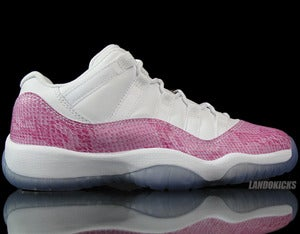 Image of Nike Air Jordan 11 Retro Low GS 'Pink Snake'