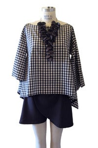 Image of Square Top in Organic Cotton Gingham