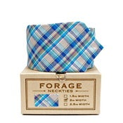 Image of summer plaid {necktie}