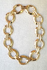 Image of gold look chunky curb chain by Allen&Code