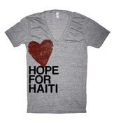 Image of Hope for Haiti T-Shirt, V-Neck