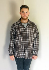 Image of Vintage Brown Checked Shirt