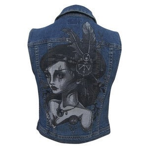 Image of Black Market Art Chicks Denim Vest