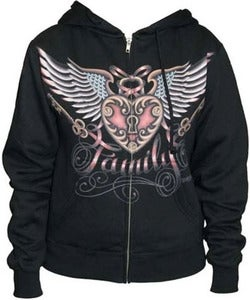 Image of Black Market Art chicks heart hoodie