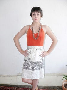 Image of VTG  Wrap Skirt White