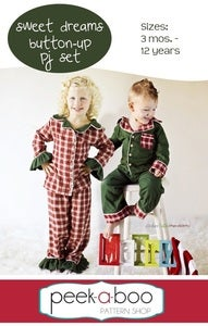 Image of Sweet Dreams Button-Up PJ Set: 3 mos. - 12 years