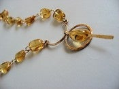 Image of Golden yellow, cognac, honey, champage, orange Madeira Citrine necklace in 14k gold fill