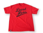 Image of Local Hero- Black on Red