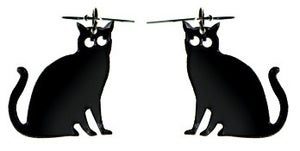Image of Suzie Black Cat Earrings