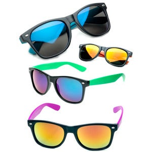 Image of Neon mirror lense sunglasses