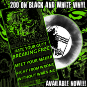 Image of CONQUEROR 5 SONG 7 INCH WITH FRANKENSTEIN COVER / BLACK AND WHITE VINYL