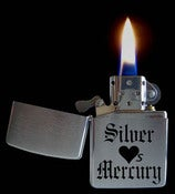 Image of Silver Loves Mercury zippo-style lighter