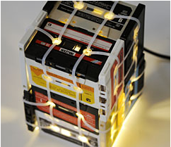 Image of SMALL CASSETTE TAPES LAMP