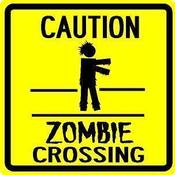 Image of Zombie Crossing Sign