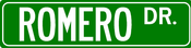 Image of Romero Drive Street Sign