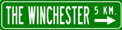 Image of The Winchester 5Km. Street Sign