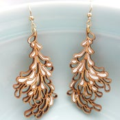 Image of Large White Blossom Earrings