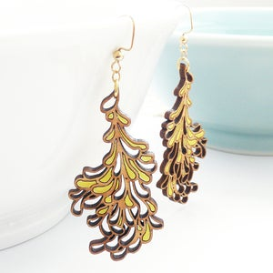 Image of Large Yellow Blossom Earrings