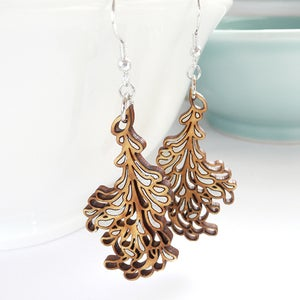Image of Medium Silver Blossom Earrings