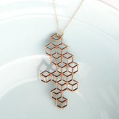 Image of Large Honeycomb Pendant with Chain