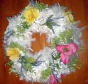 Image of Flower and Feather Wreath