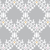 Image of leaf damask wallpaper