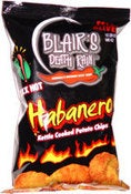 Image of Blair's Death Rain V. HOT Habanero Potato Chips x 3
