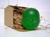 Image of Green Baby Doll Head Soap