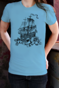 Image of Low Sea Women's T-Shirt (Sky Blue)