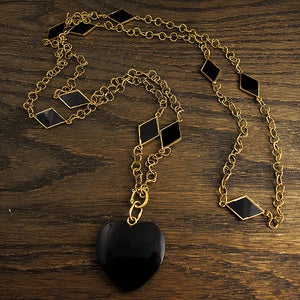 Image of Black Heart Necklace