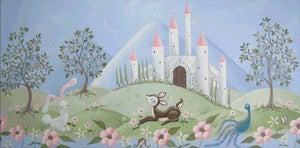 "Image of Castle Landscape 20"" x 40"""