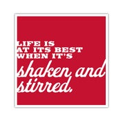 Image of POSTER: Shaken and Stirred - 19.75&quot; X 19.75&quot;