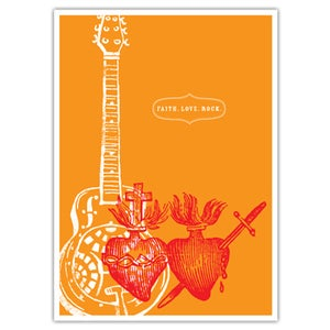 "Image of POSTER: Faith. Love. Rock. Poster - 19.75"" x 27.5"""