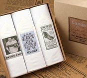 Image of Box of III Men's Handkerchiefs: Rugby