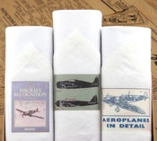 Image of Box of III Men's Handkerchiefs: Airplanes