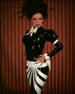 Image of Long stripe bow gown