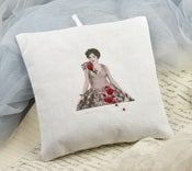 Image of Cotton Lavender Cushion: Lady Rose